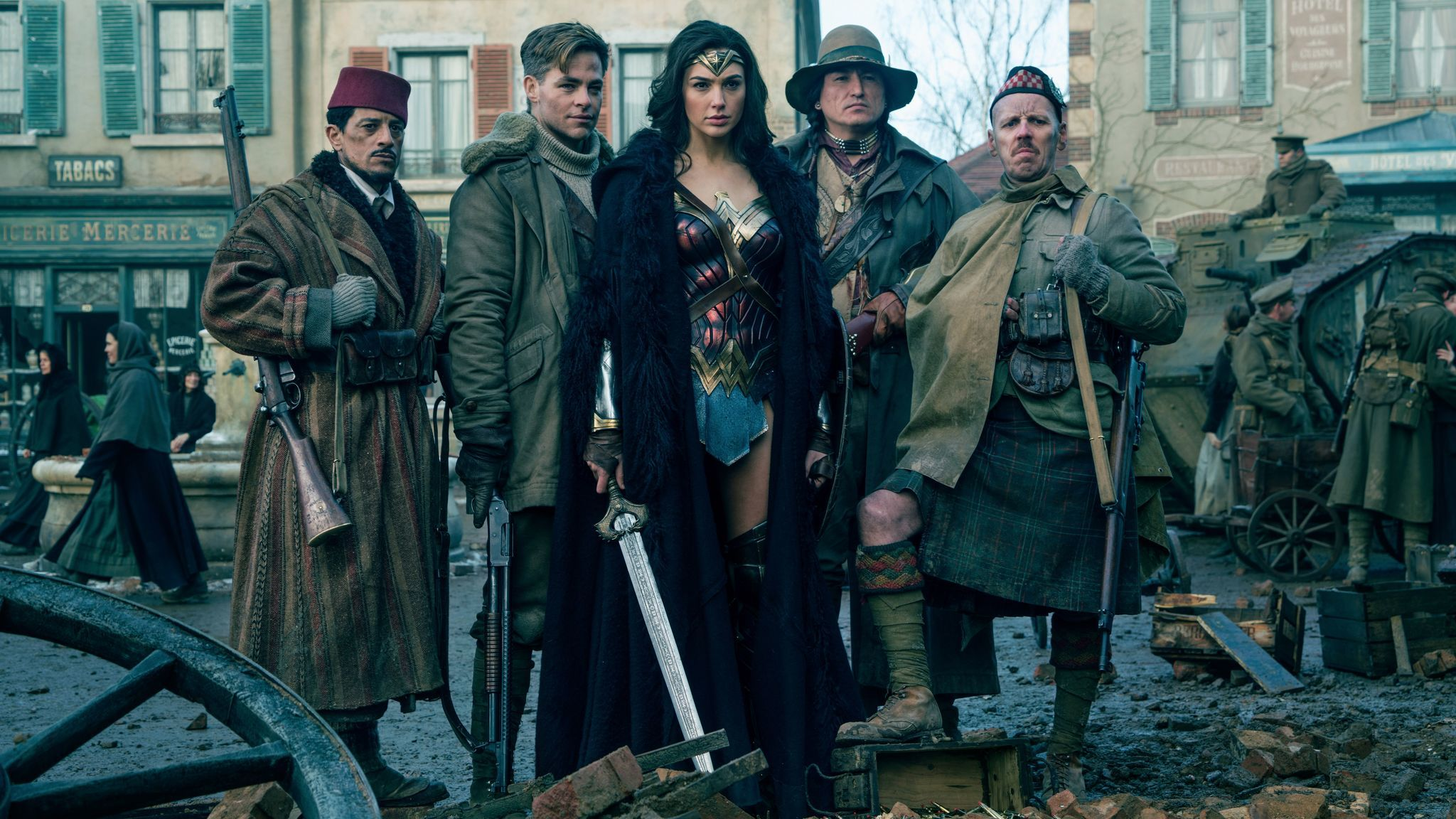 Wonder Woman the photo after battle no mans land