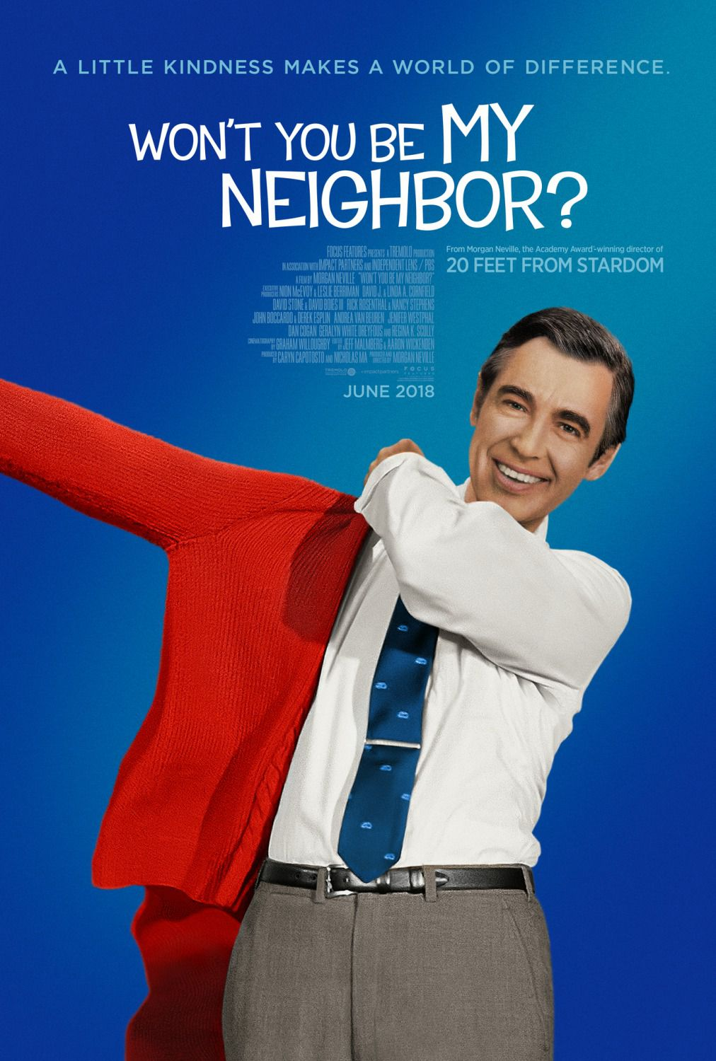 Wont You be my Neighbor - A little kindness makes a world of difference - Cast: Fred Rogers - comedy film poster 2018