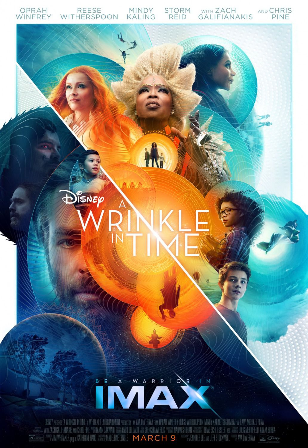 Wrinkle in Time - nelle pieghe del tempo - Reese Witherspoon, Oprah Winfrey, Storm Reid, Mindy Kaling, Zach Galifianakis, Chris Pine - Poster 2018