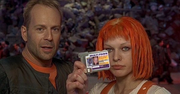 5th Element - young Bruce Willis and Jeune Milla Jovovich