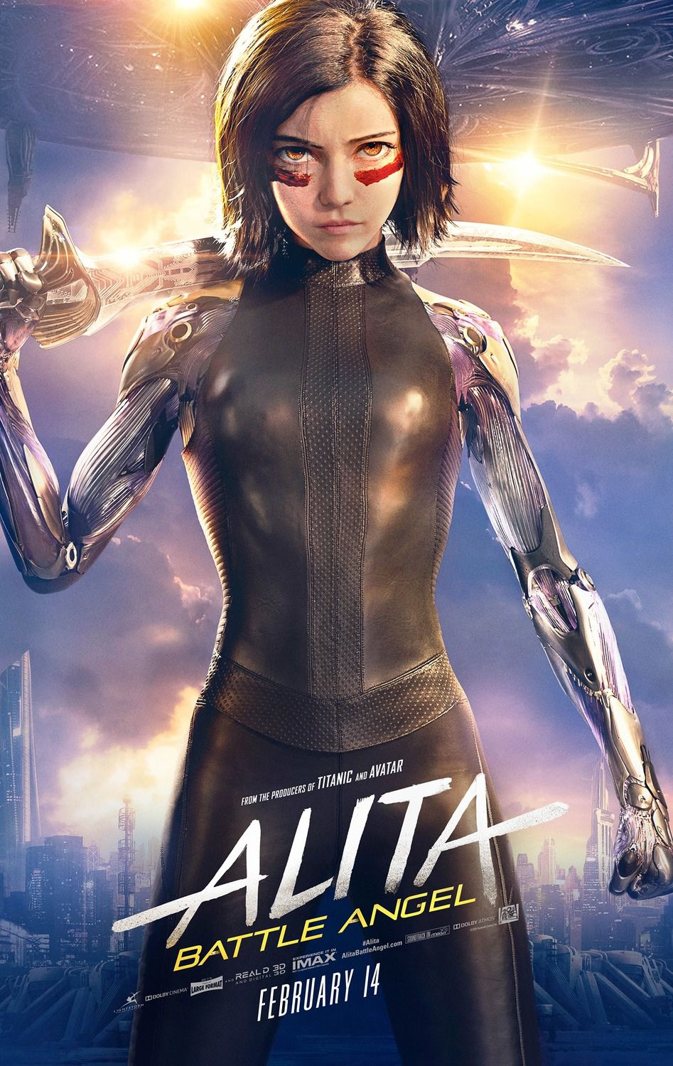 Alita Battle Angel 2019 live action poster