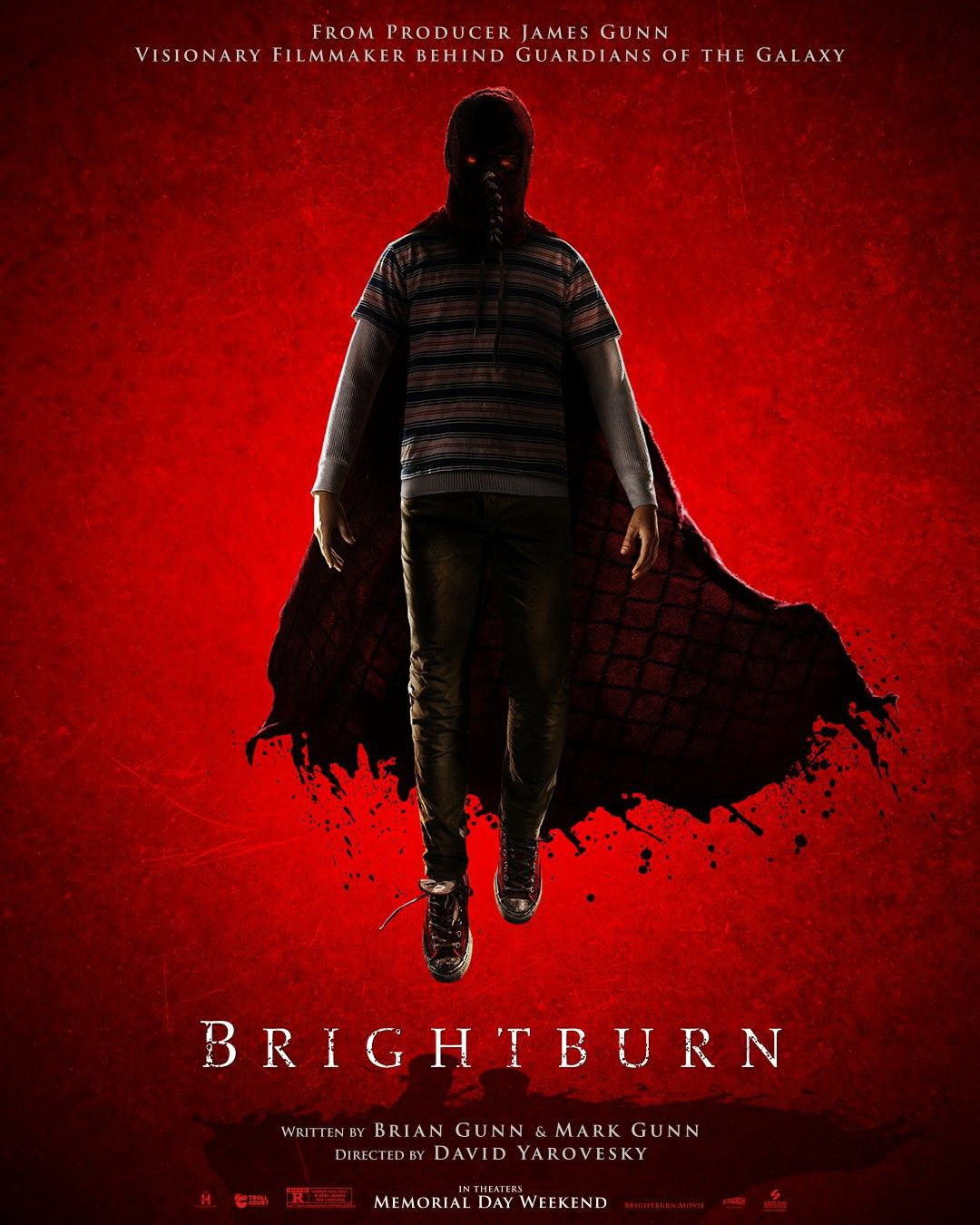 Brightburn - L'Angelo del Male (2019) red flying poster