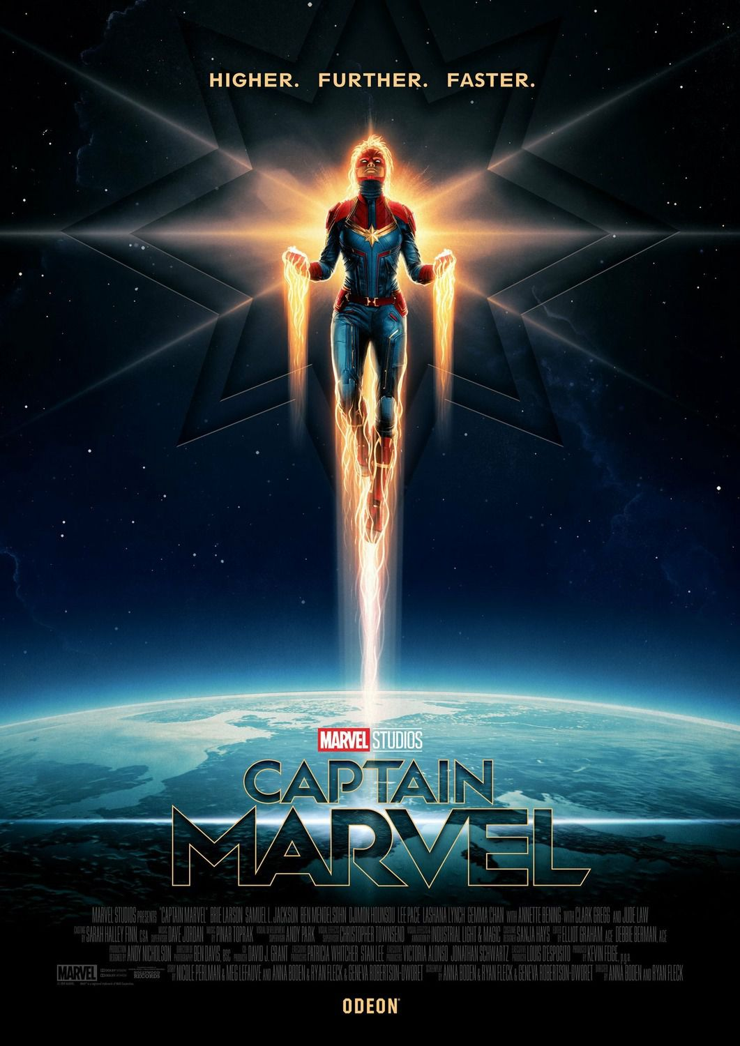 Captain Marvel - space fly