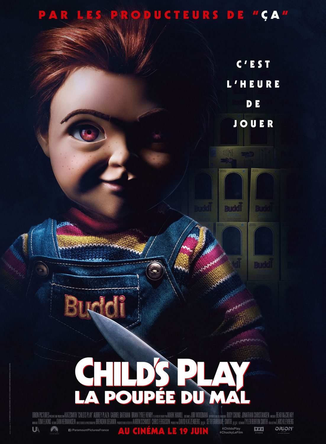Childs Play 2019 horror with Aubrey Plaza - scary doll