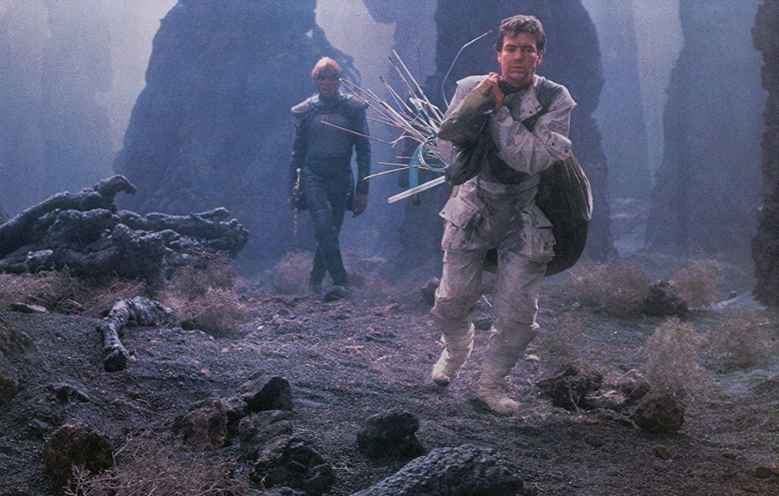 Enemy Mine 1985 walking scene