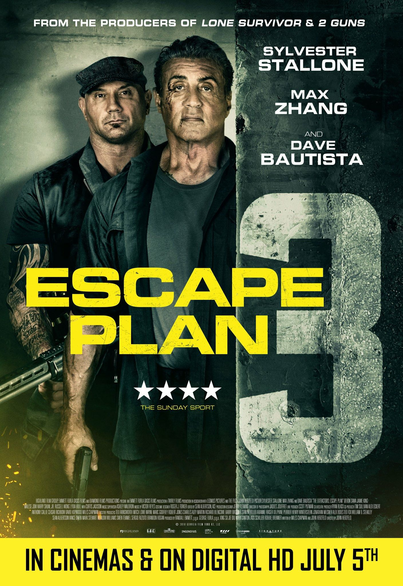 Escape Plan 3 the Extractors (2019) with Sylvester Stallone & Dave Bautista