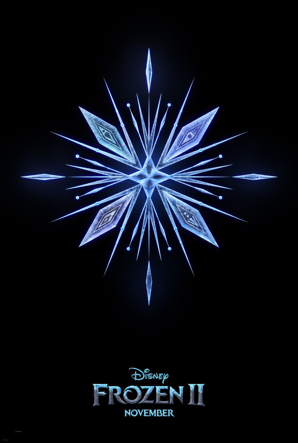 Frozen 2 - snow flake poster