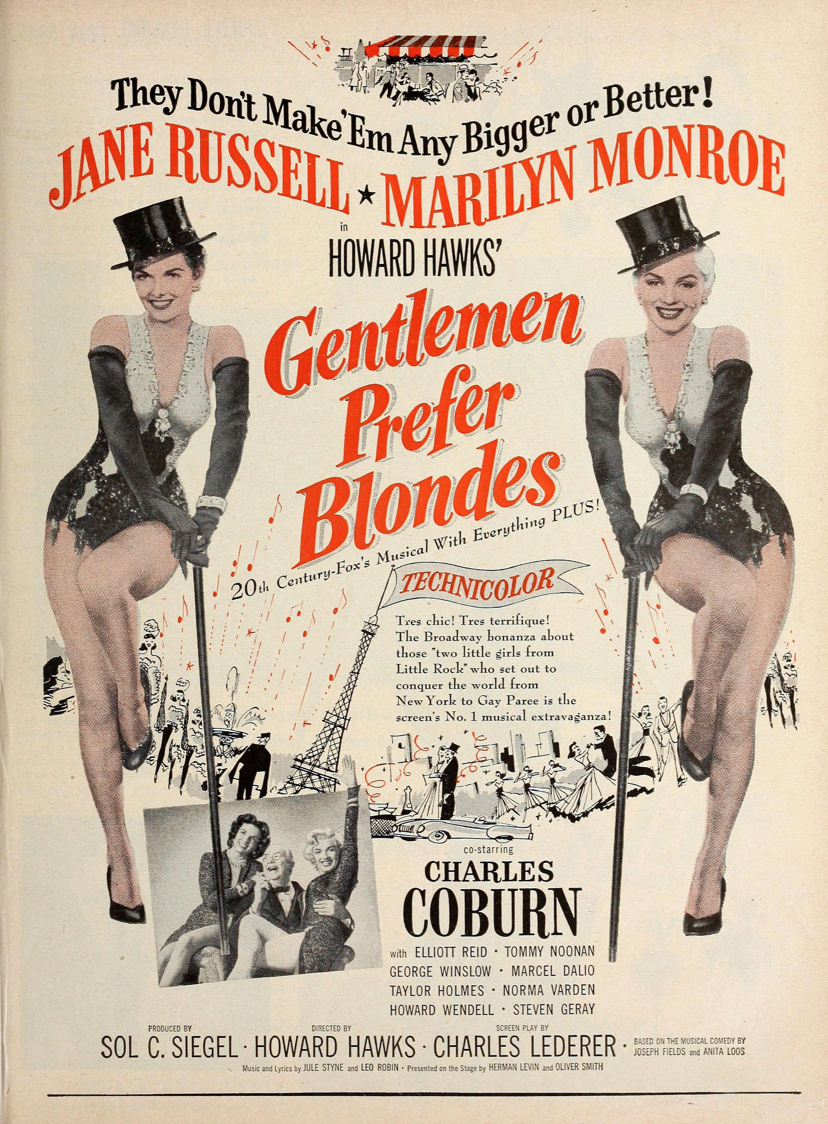 Gentlemen Prefer Blondes 1953 classic cult posters collection