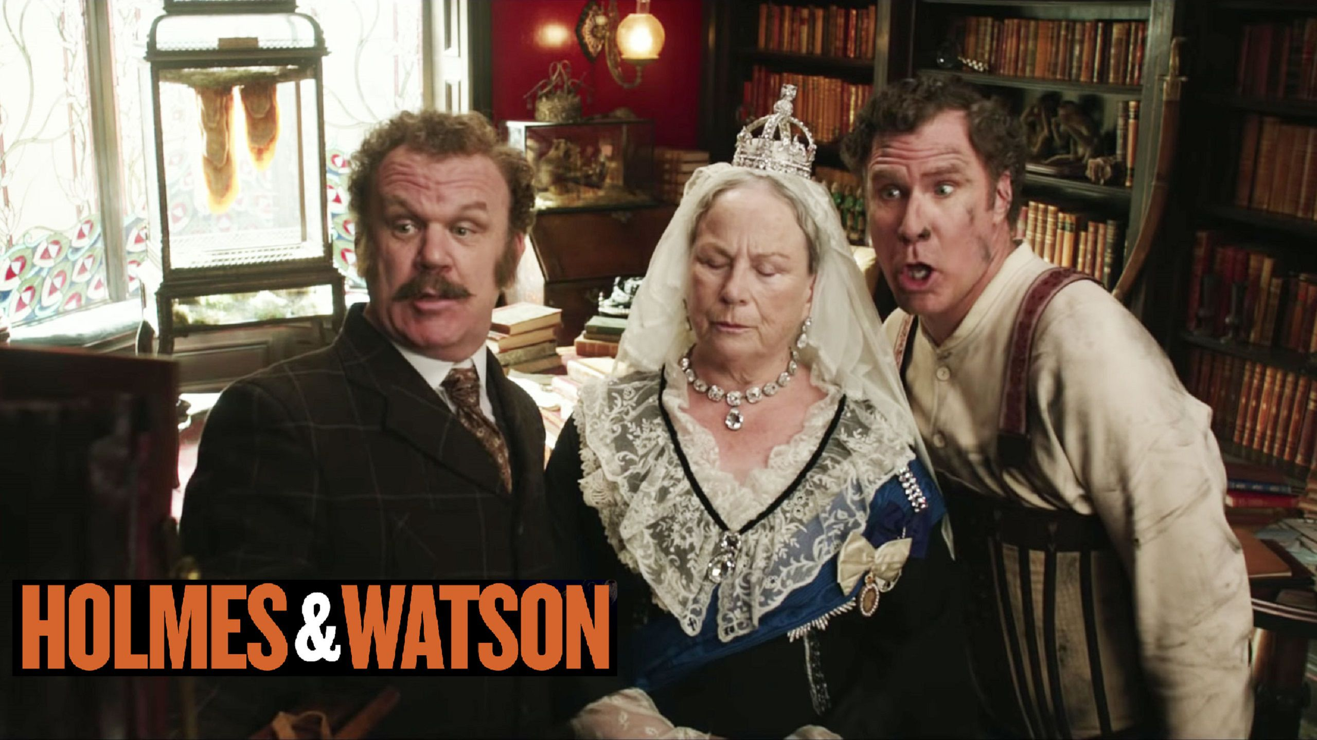 Holmes and Watson (2018) - Will Ferrell, John C. Reilly with the Queen