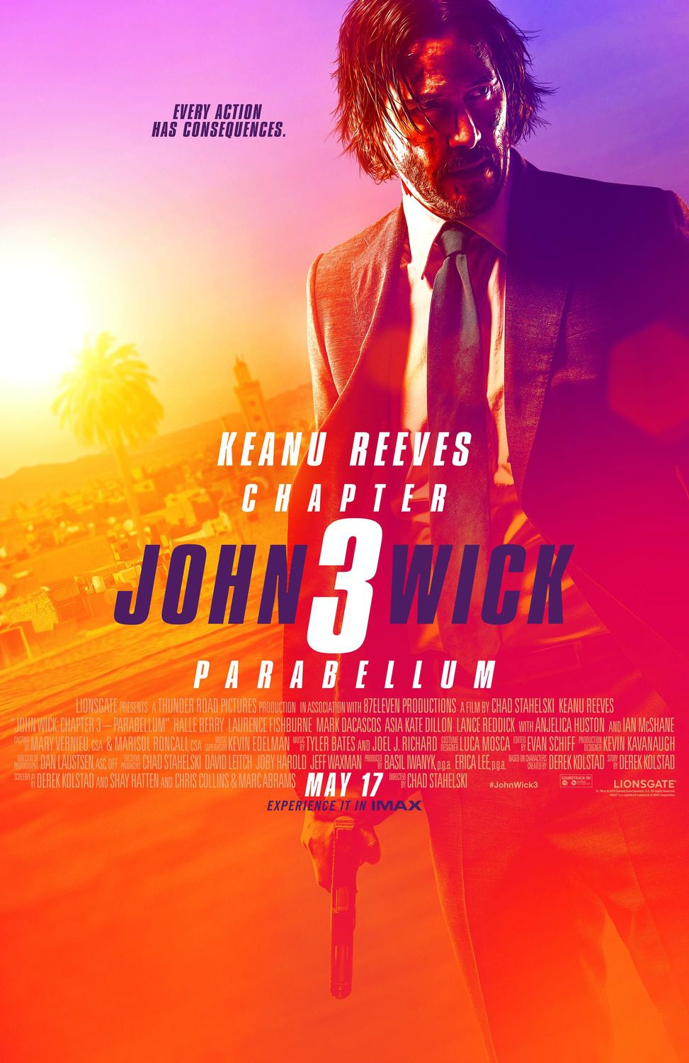 John Wick Chapter 3 - Parabellum 2019 Every action has consequences - poster