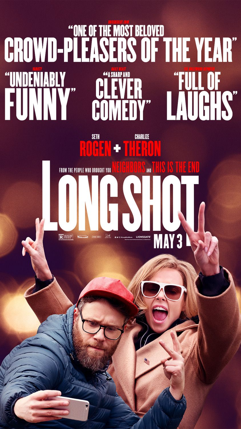 Long Shot 2019  Seth Rogen, Charlize Theron - posters collection