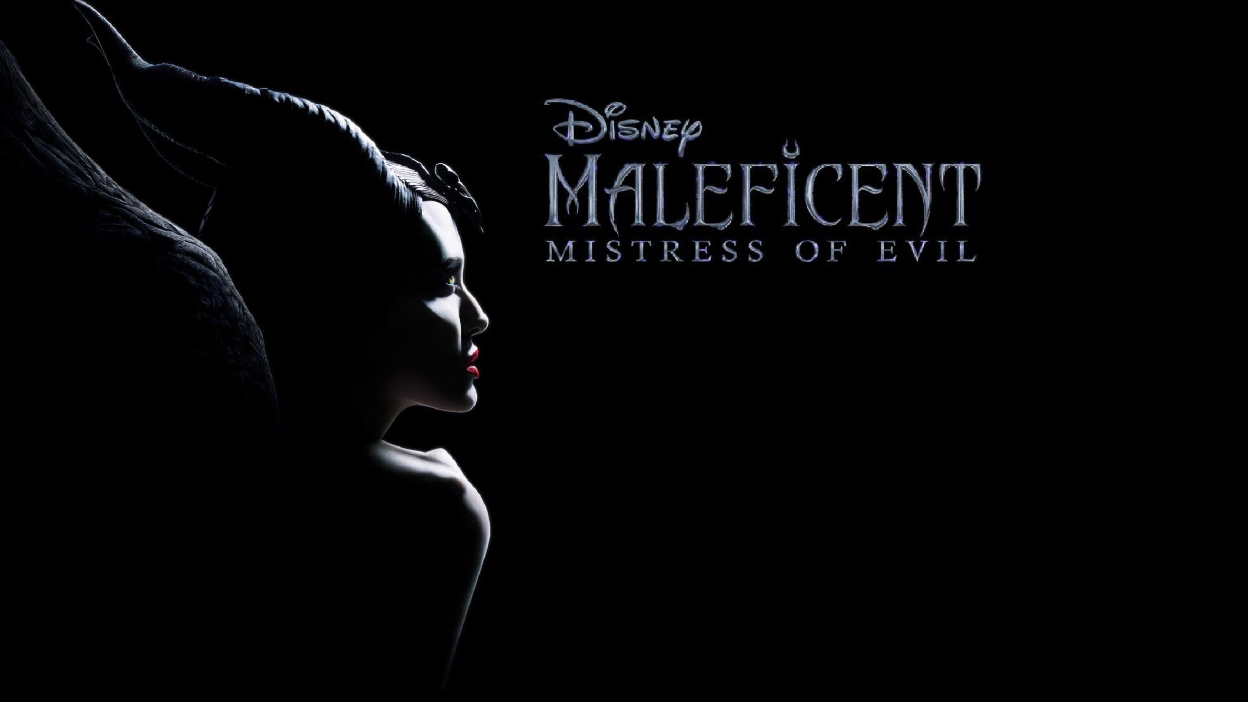 Maleficent Mistress of Evil (2019) black wallpaper and poster
