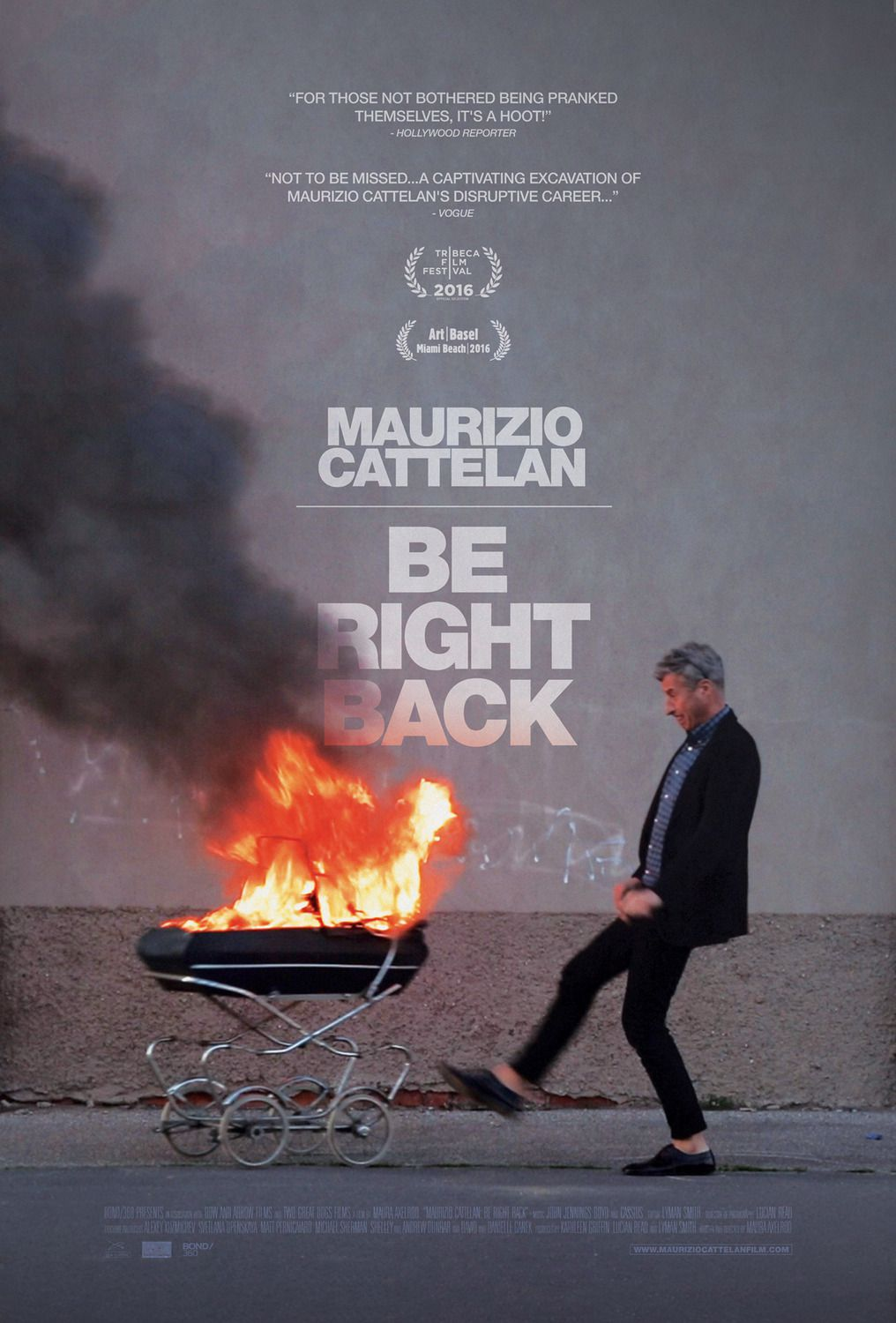 Maurizio Cattelan be Right Back (2016)