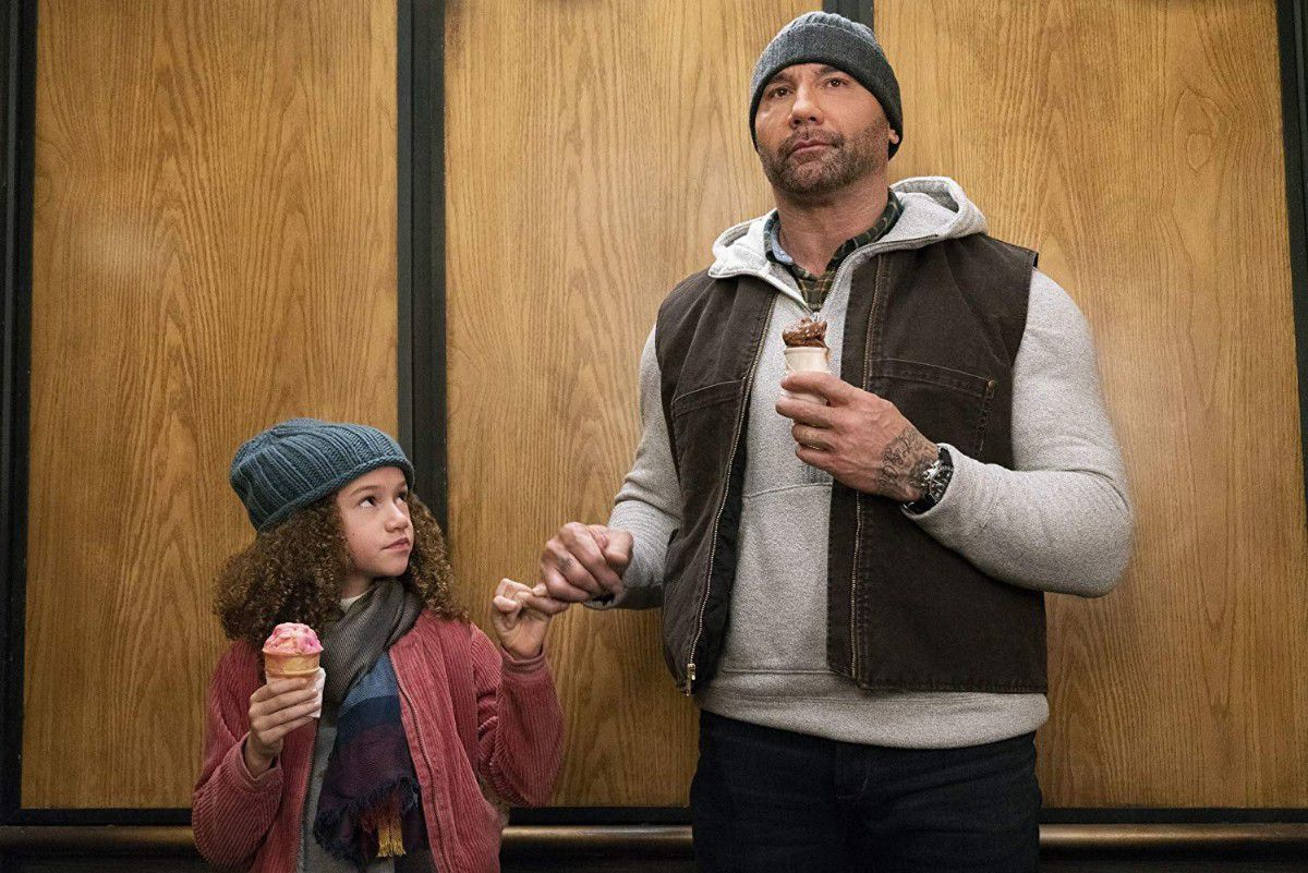 My Spy 2019 Dave Bautista - lift scene and promise