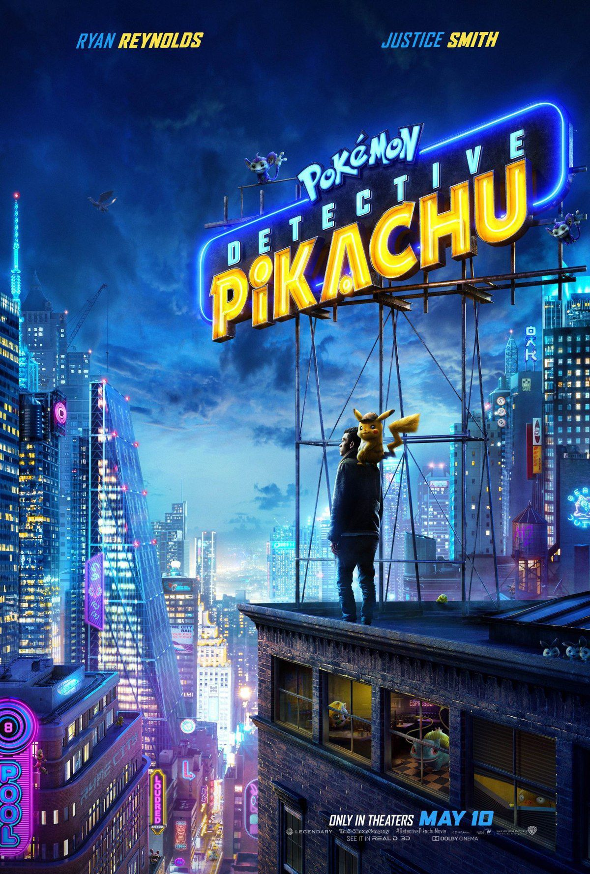 Pokemon Detective Pikachu 2019 live action movie - poster city landscape