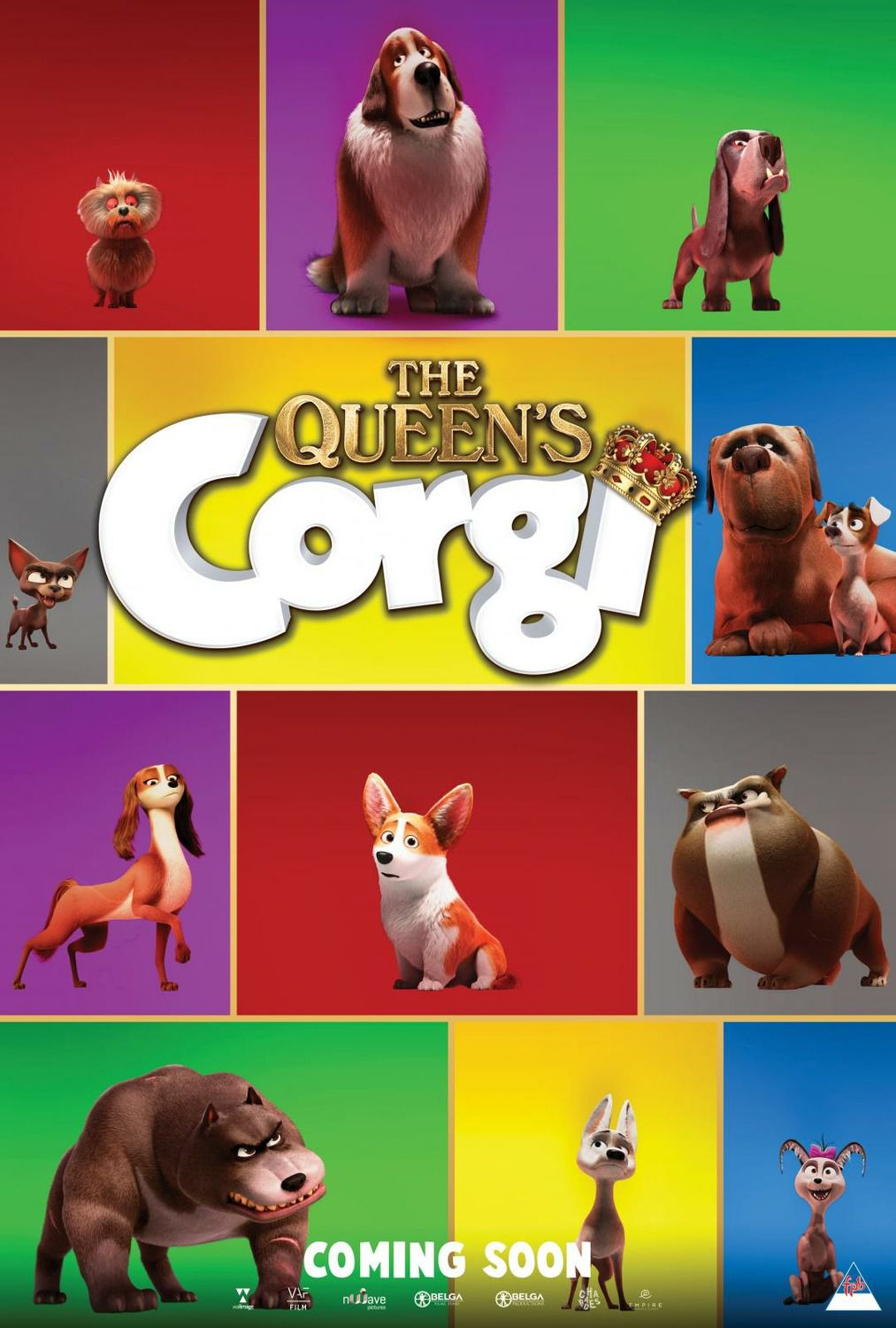 Queens Corgi 2019 animated movie poster