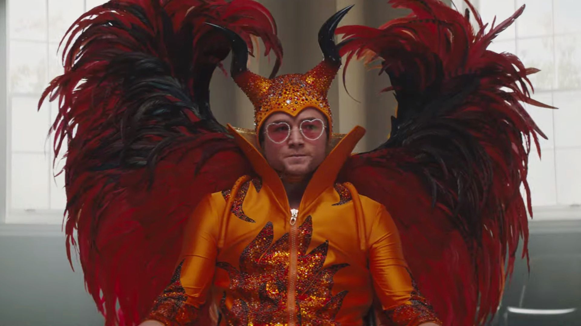 Rocketman (2019) Red and Yellow Devil Dress Outfit