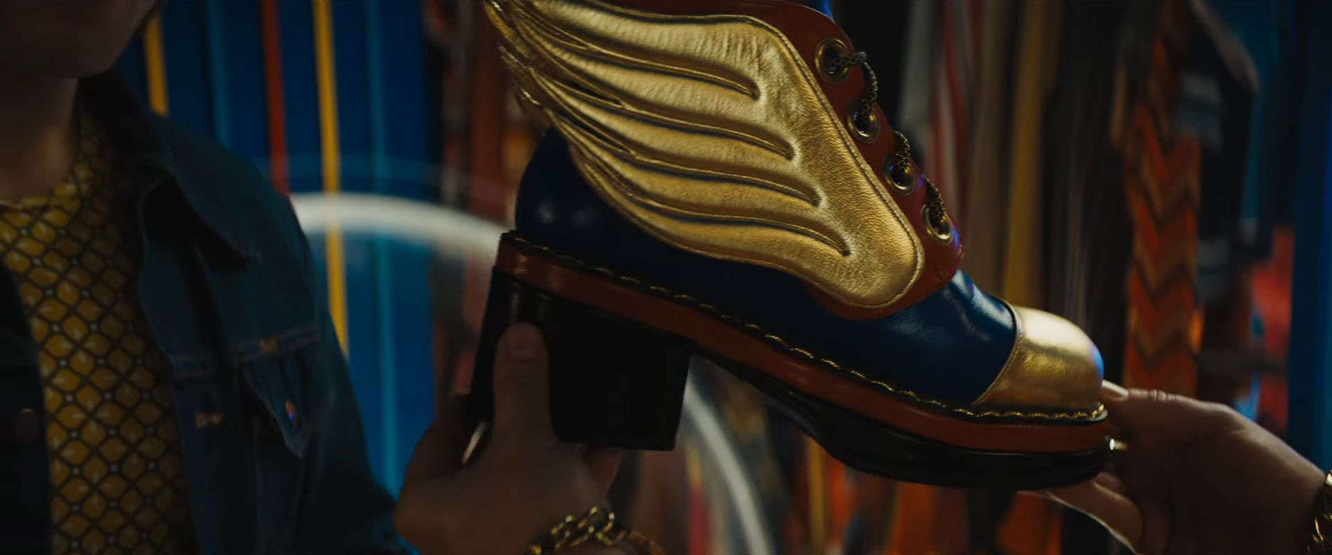 Rocketman (2019) colourful shoes with wigs