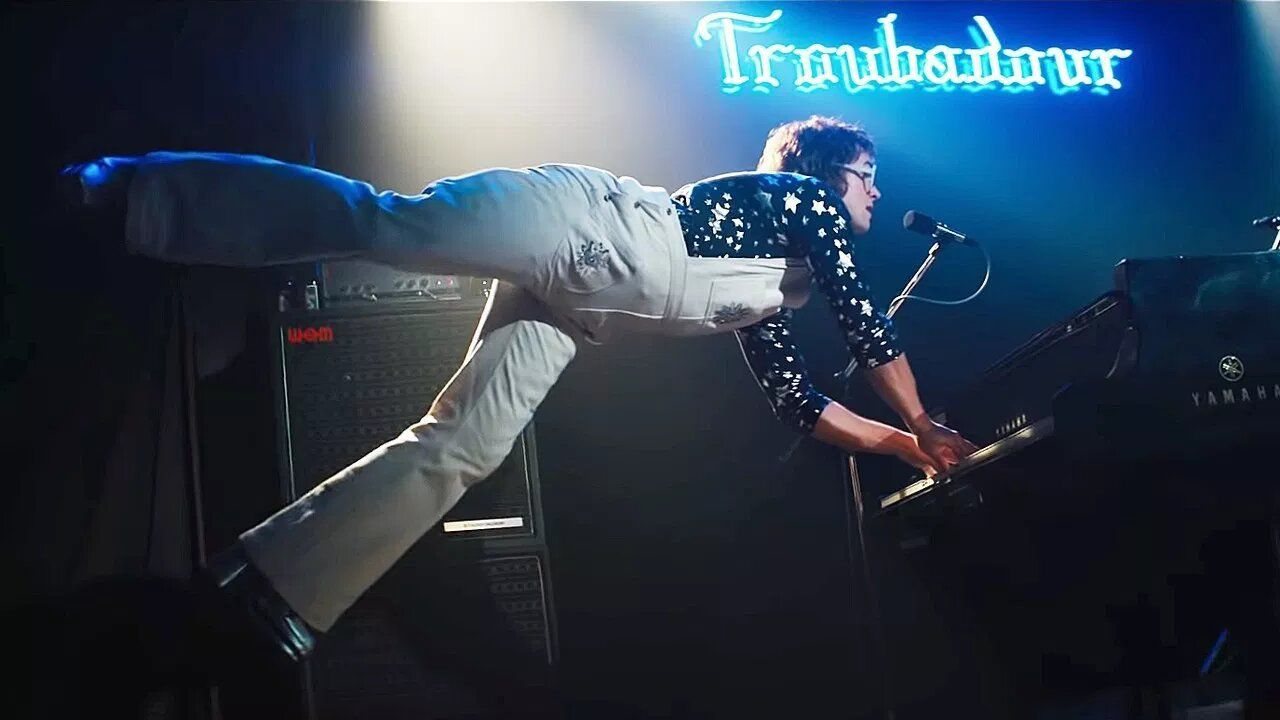 Rocketman (2019) jumping troubadour
