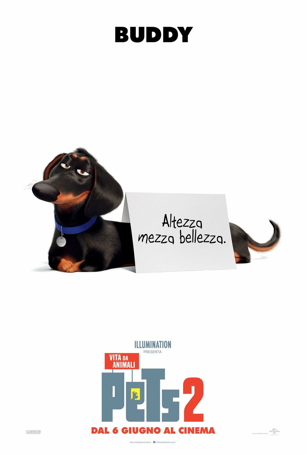 Secret Life of Pets 2 Buddy - Altezza mezza Bellezza - poster