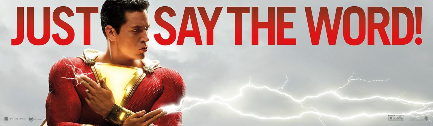 Shazam 2019 Just say the word poster