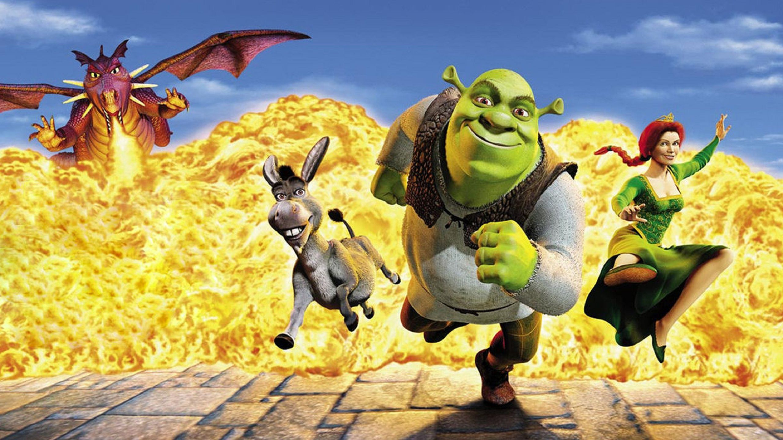 Shrek running