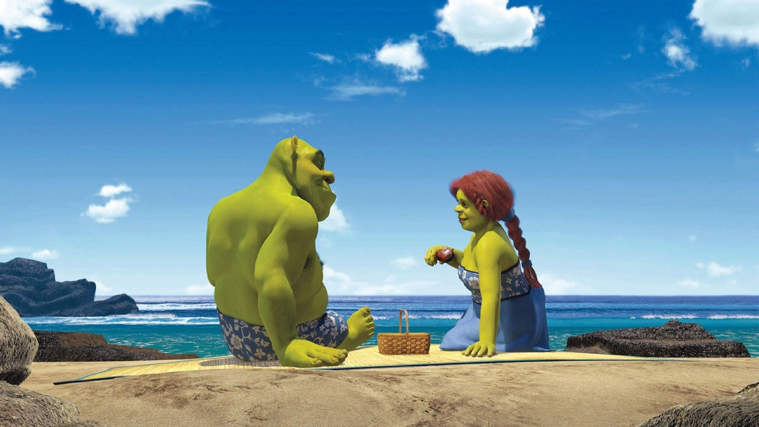Shrek 2 beach relax