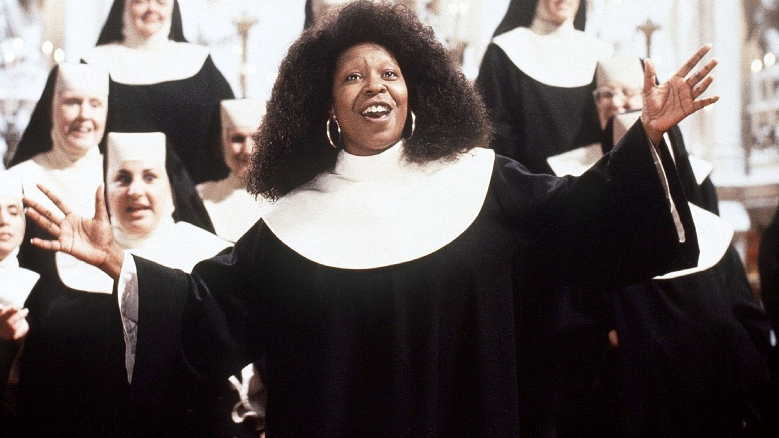 Sister Act (1992) choir singing with Whoopi Goldberg