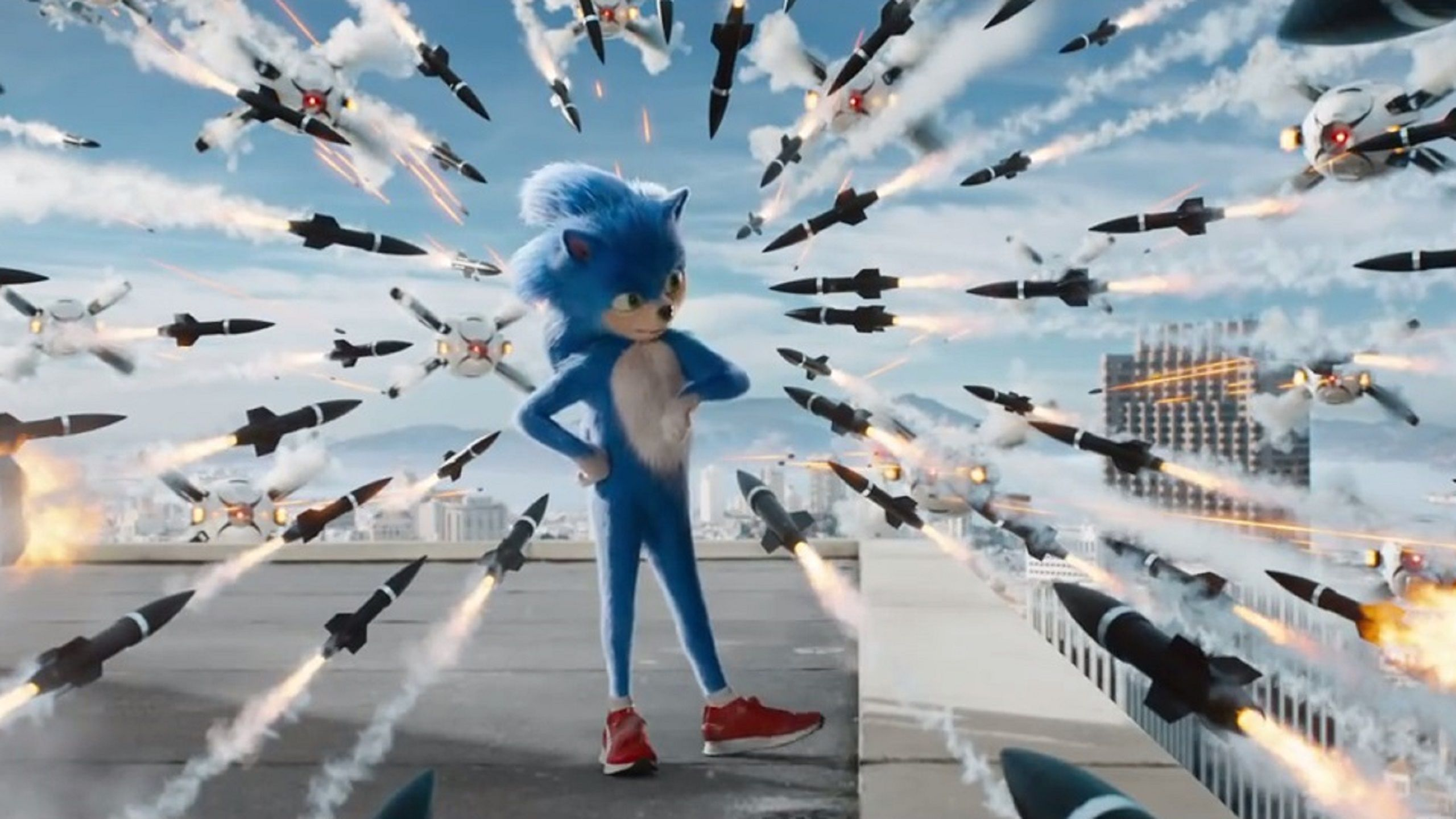 Sonic the Hedgehog (live action 2019) shooting scene