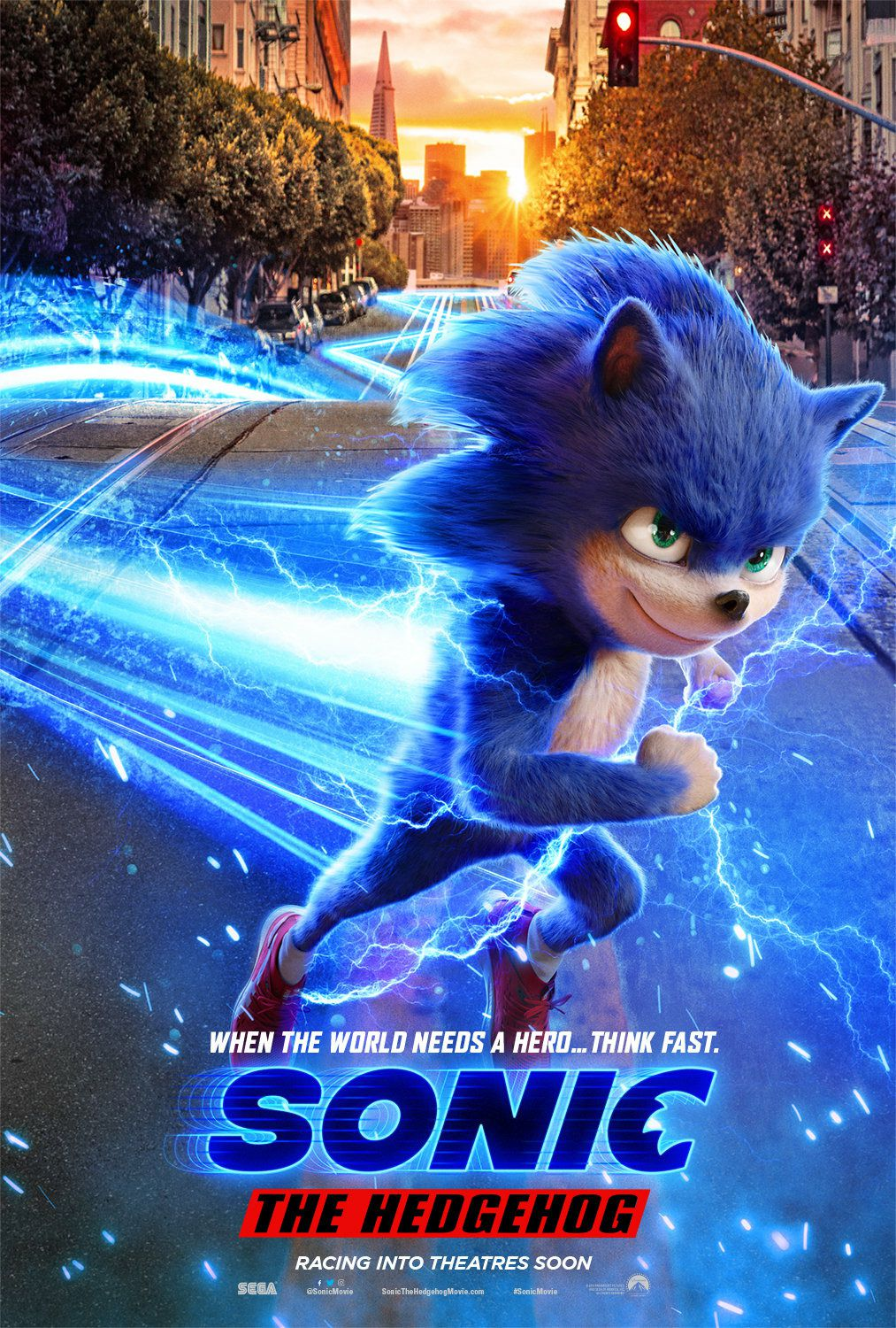 Sonic the Hedgehog 2019 live action - Gotta. Go. Fast. - posters collection