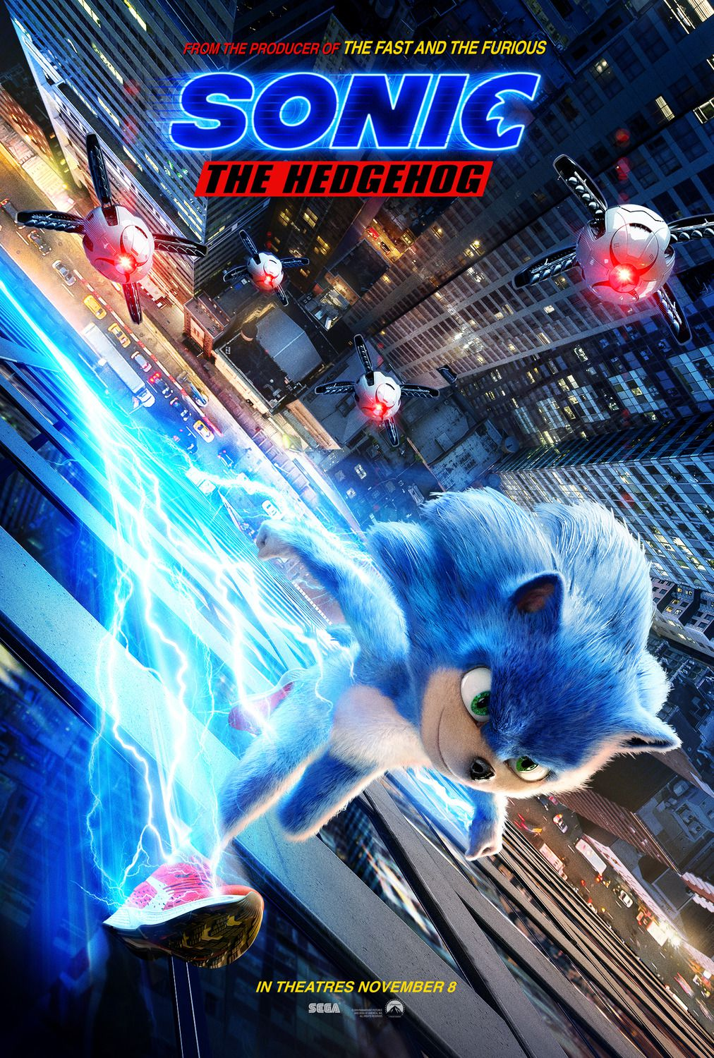 Sonic the Hedgehog 2019 live action - Gotta. Go. Fast. - Ben Schwartz, James Marsden, Jim Carrey, Tika Sumpter