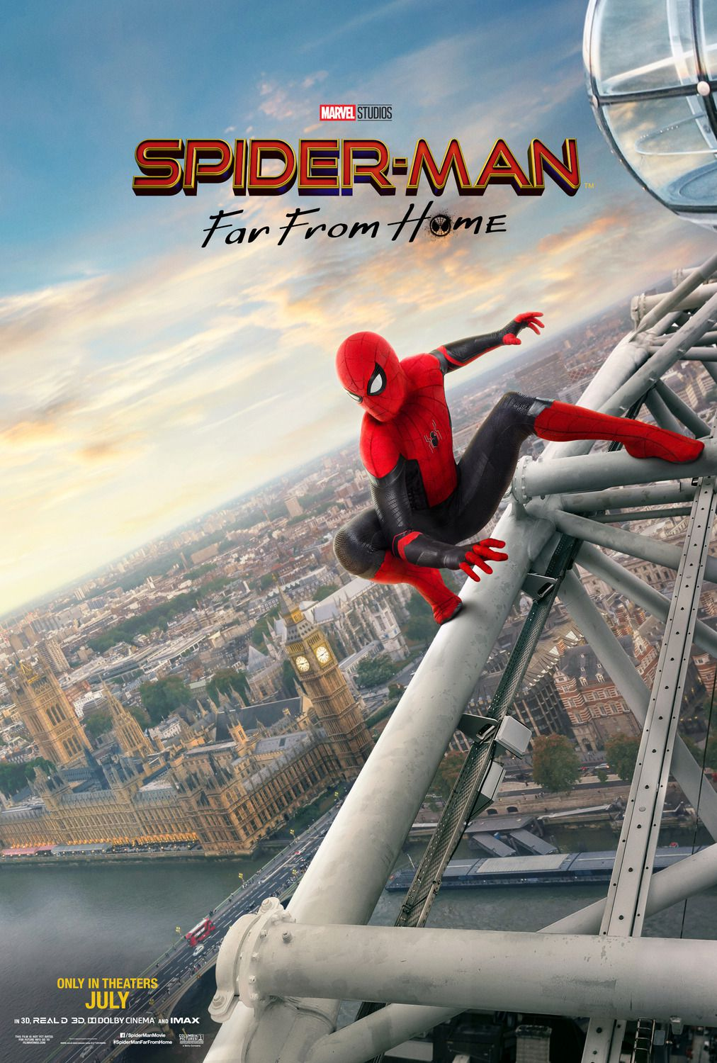 Spiderman far from Home (2019) poster London eye