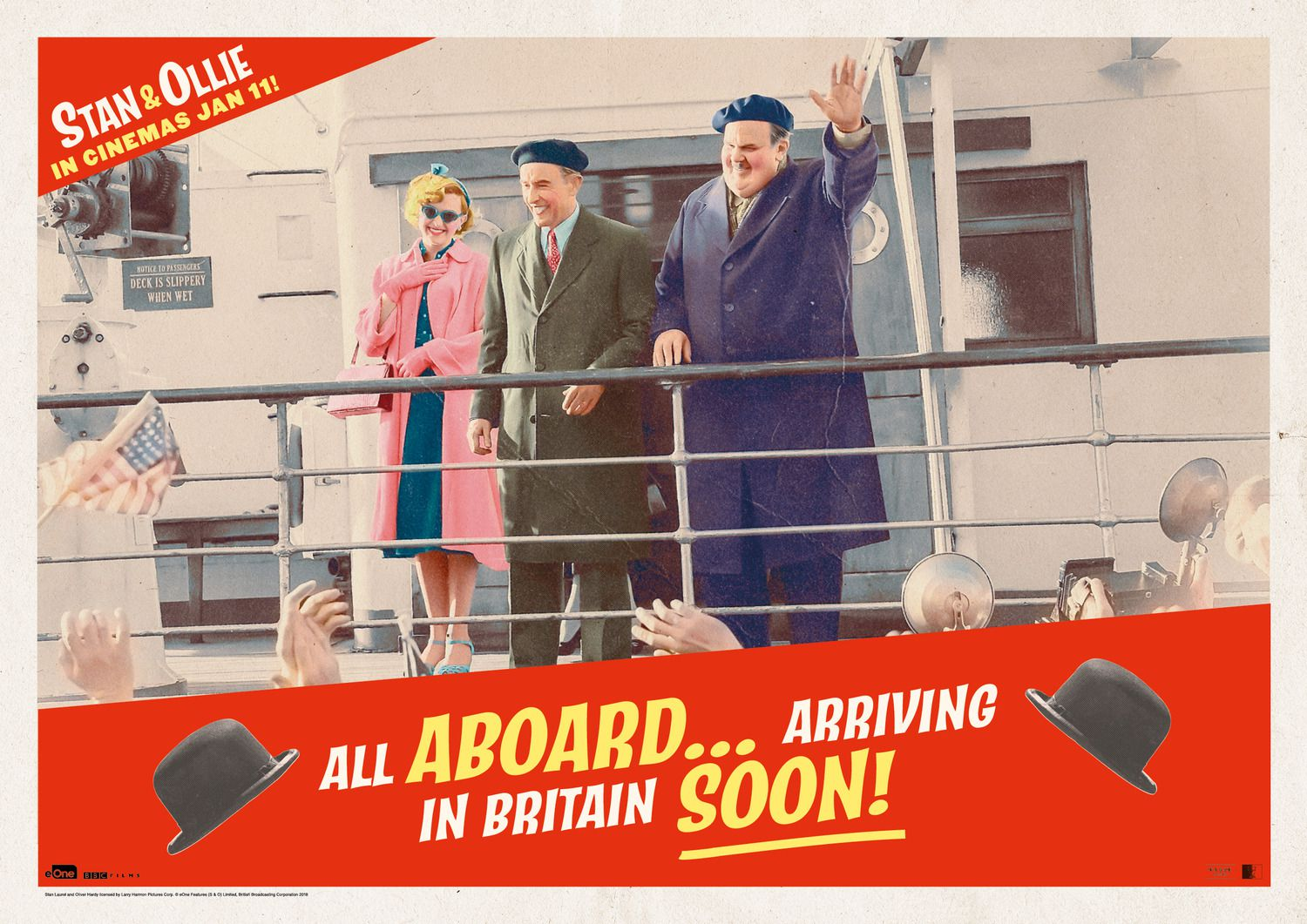 Stan & Ollie (2019) travel by ship