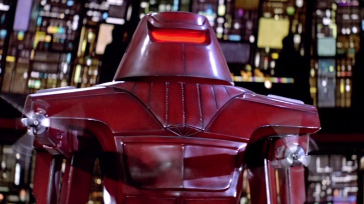 The Black Hole 1979 red robot