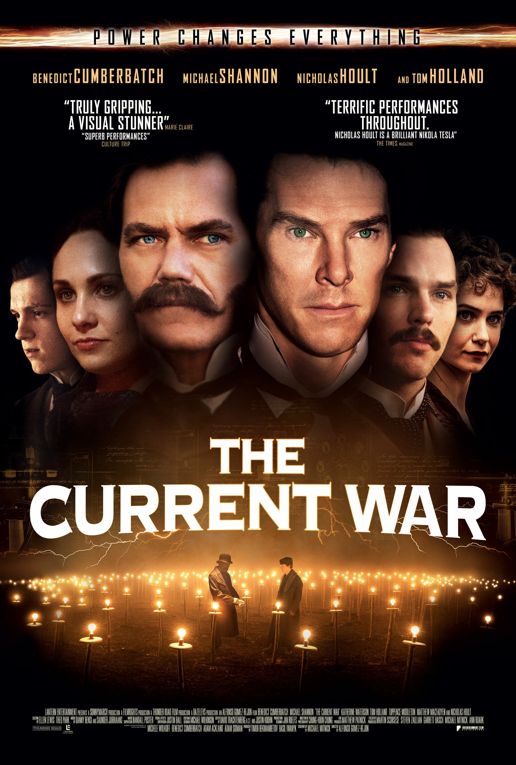 The Current War 2019 Benedict Cumberbatch, Michael Shannon, Nicholas Hoult - poster
