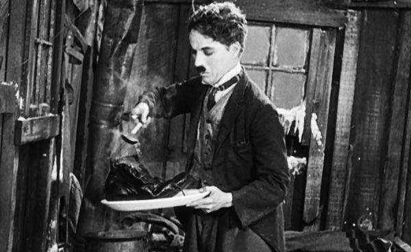 The Gold Rush 1925 Charlie Chaplin Shoe cooking