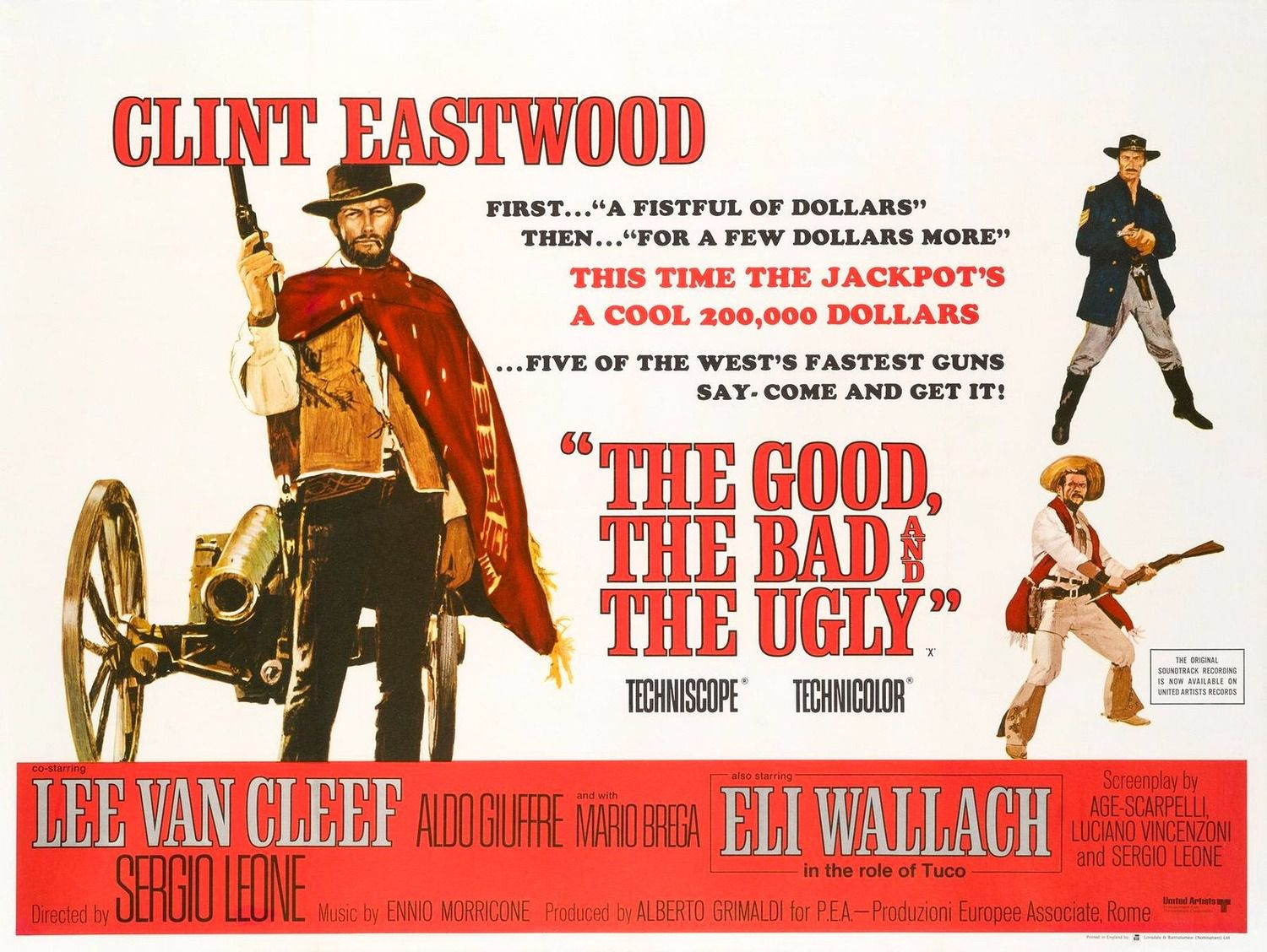 The Good, the Bad, and the Ugly 1966 Eli Wallach, Clint Eastwood, Lee Van Cleef, Aldo Giuffre - poster