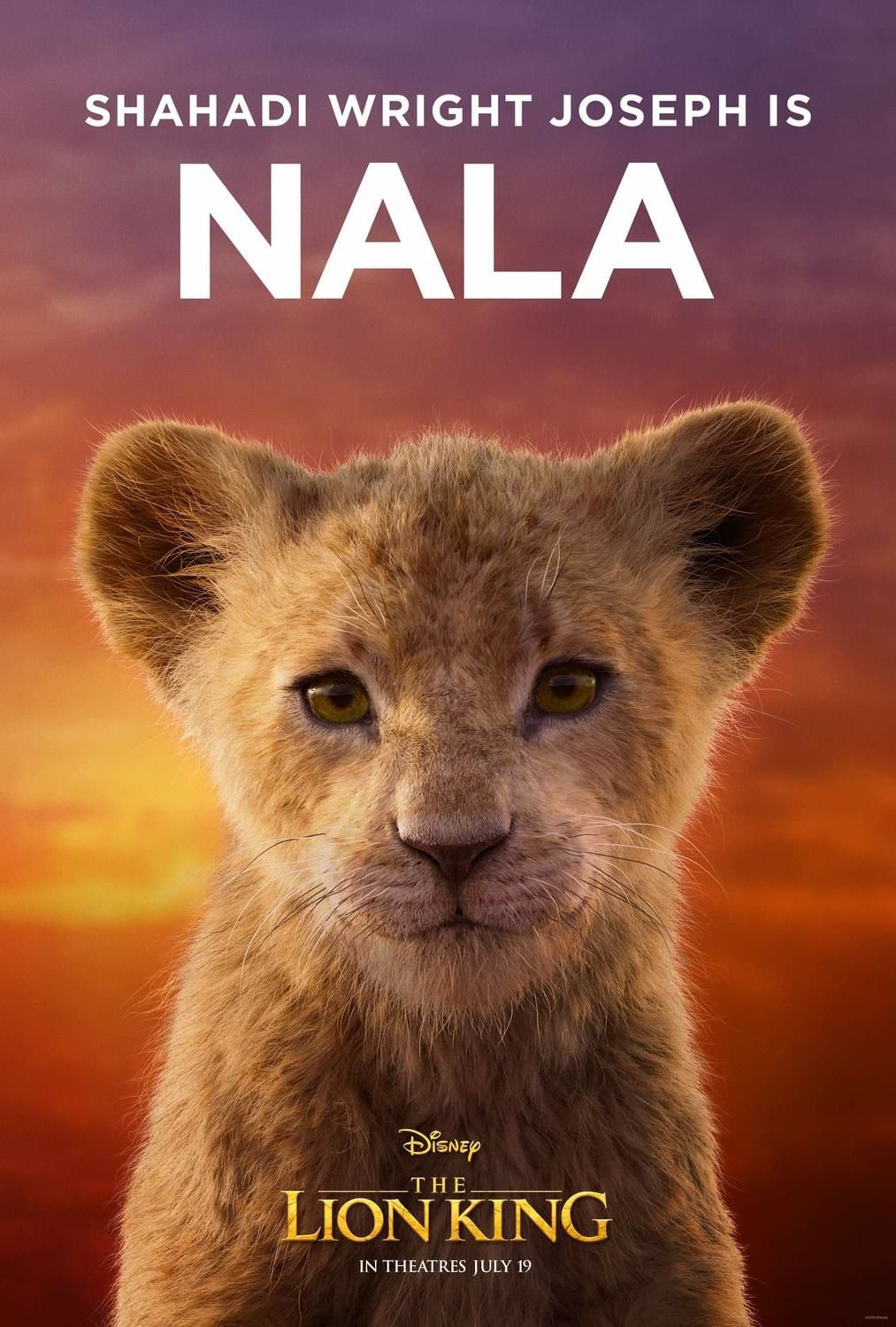Shahadi Wright Joseph is young Nala