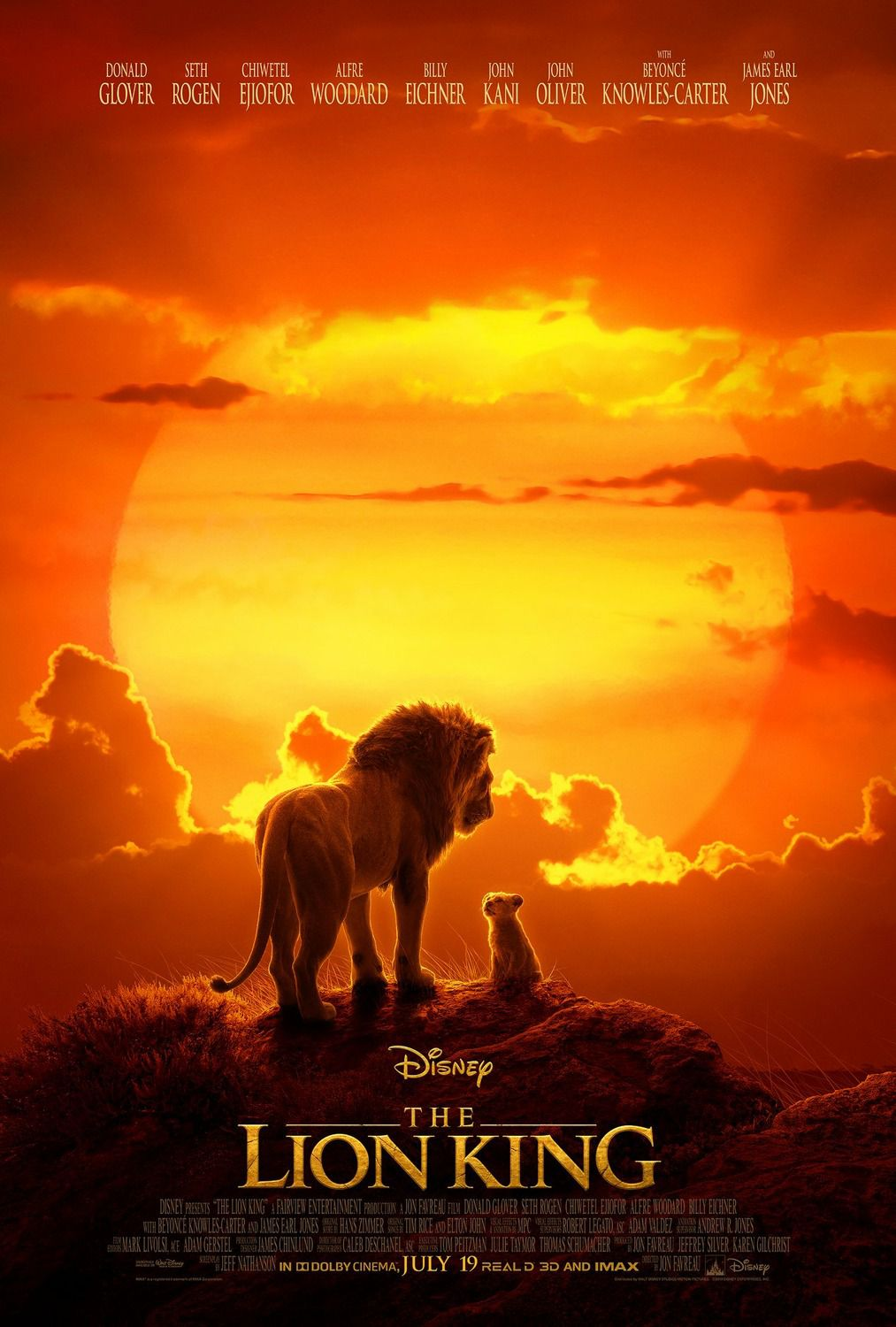 The Lion King 2019 live action - Sunset Africa Poster