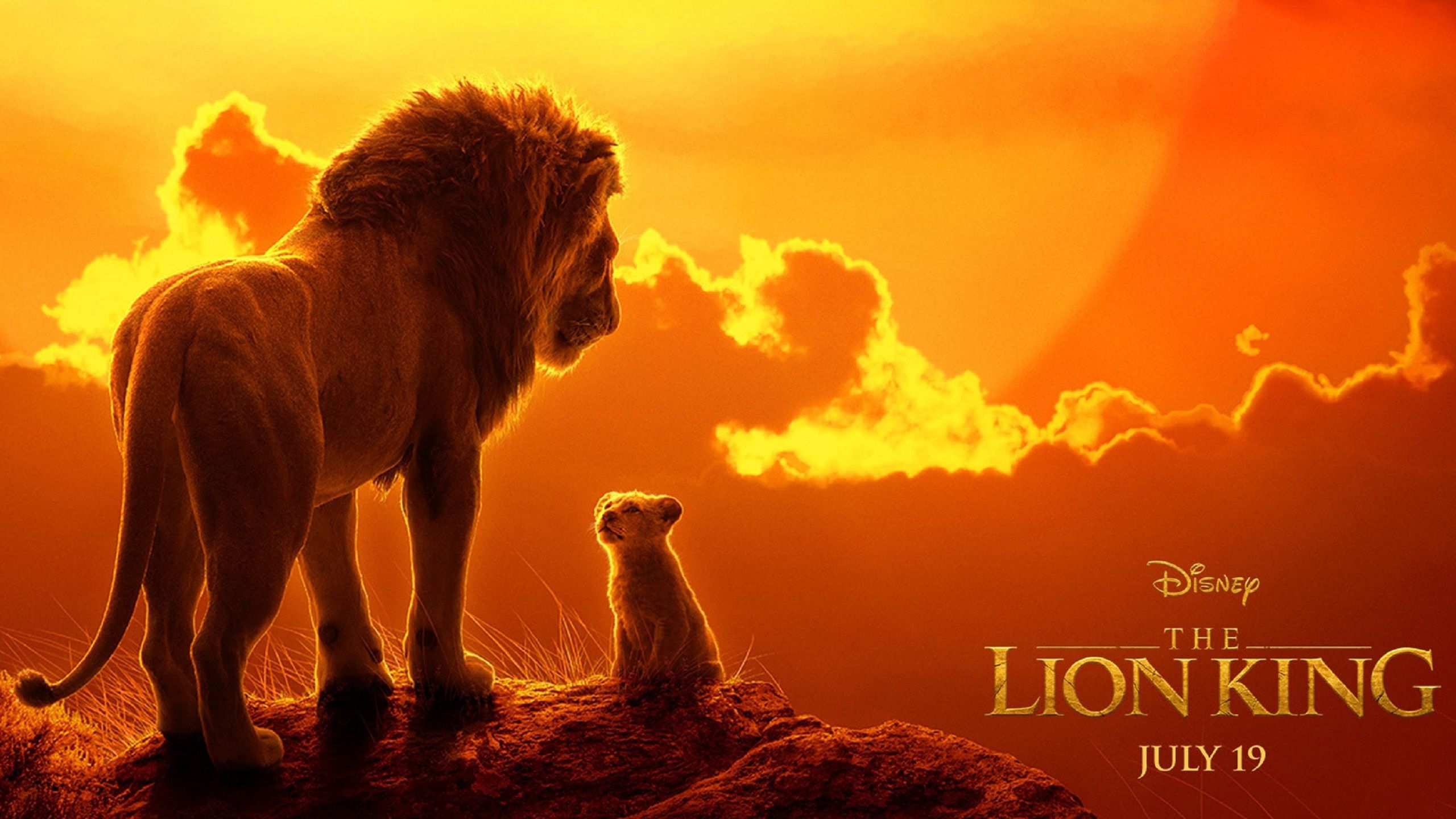 The Lion King 2019 live action sunset panorama