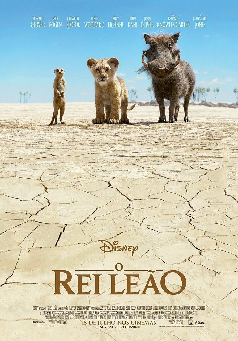 The Lion King 2019 Rei Leao - live action poster Desert