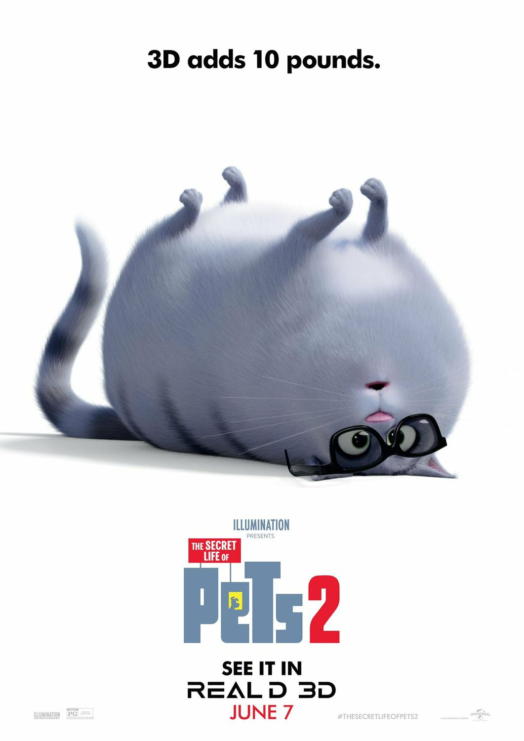The Secret Life of Pets 2 2019 3D adds 10 pounds - poster