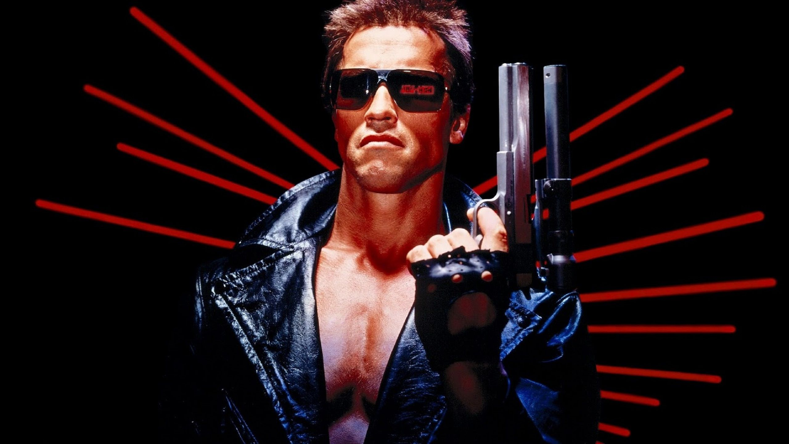 The Terminator 1984 young Arnold Schwarzenegger wallpaper and poster