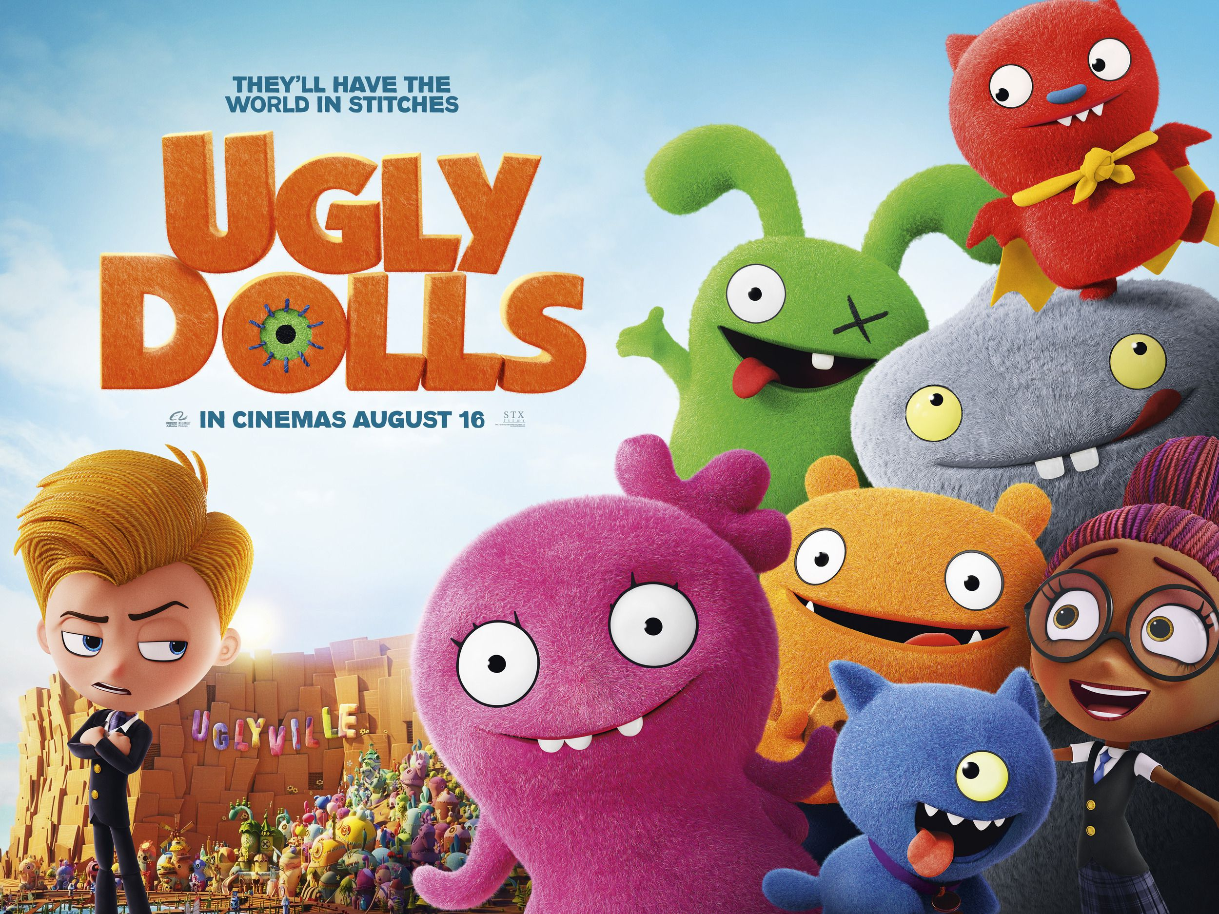 Ugly Dolls 2019 They'll have the world in stitches - voices Kelly Clarkson, Nick Jonas, Janelle Monae - poster