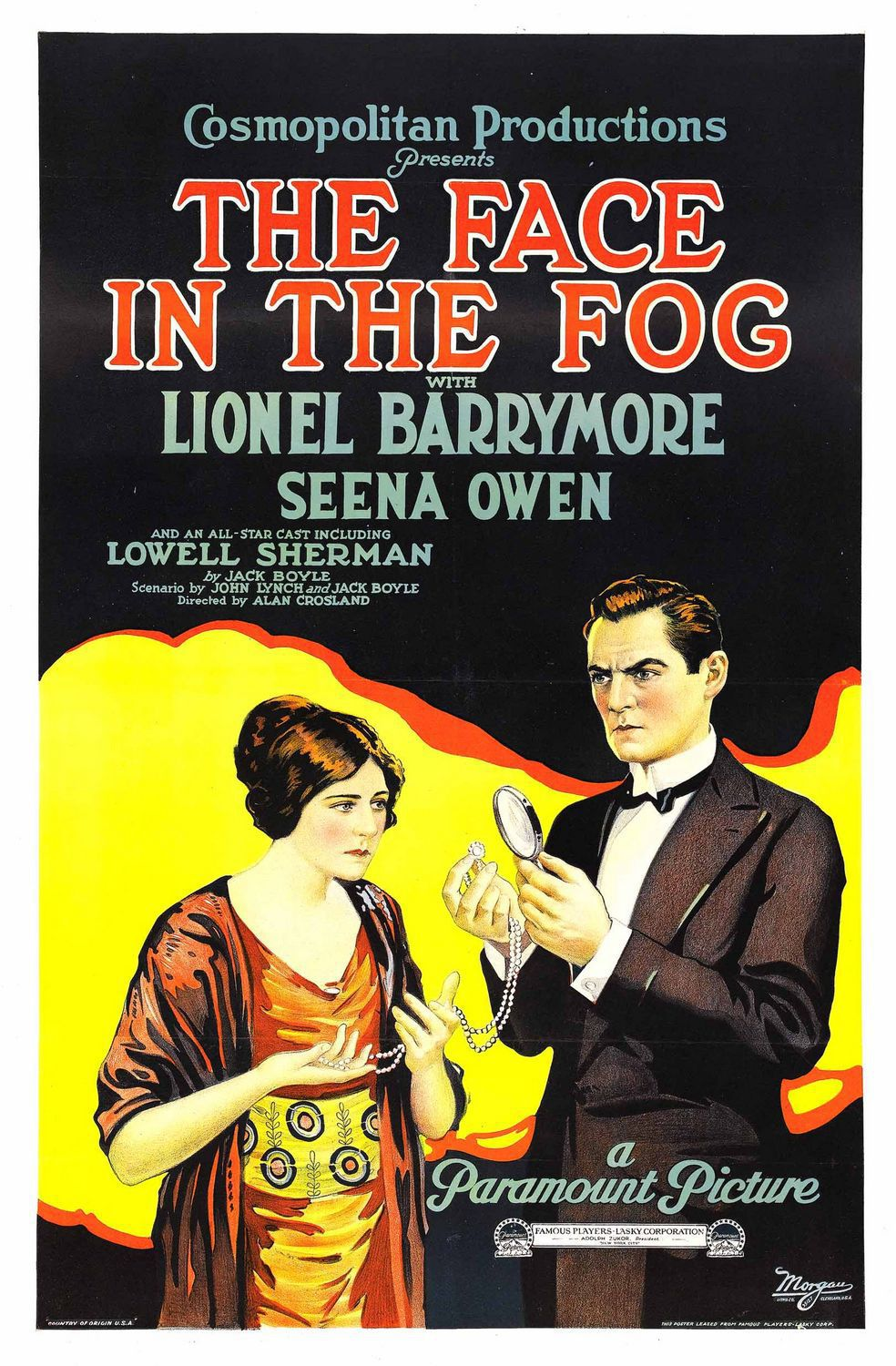 Face in the Fog (1922) - film poster 20s
