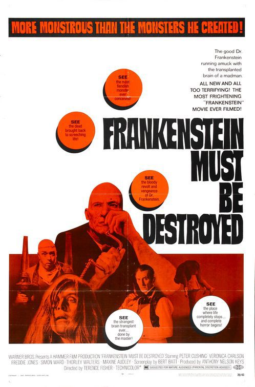 Frankenstein must be Destroyed (1970)