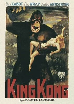 King Kong (1933) - first poster - Gorilla and Belle Blonde