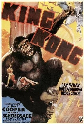 King Kong (1933) - first poster - Gorilla and Belle Blondie