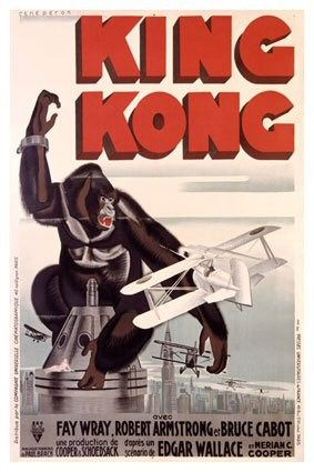 King Kong (1933) - first poster - airplane attack