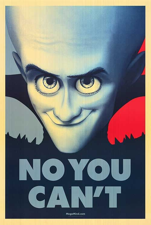 Megamind - posters collection - No You Can't
